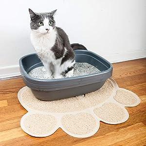No-tóxico proteger suelo moqueta fácil limpiar bandeja alimentación captura desechos suave ligero EV
