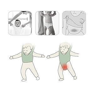 Reizbaby - Arnés de seguridad ajustable para bebés que aprenden a caminar y ayudantes, cinturón de protección para niños pequeños Dual use blue