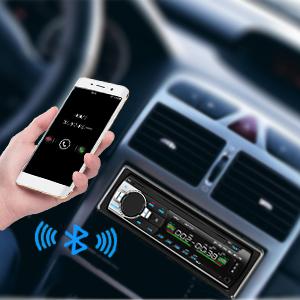 Radio USB Coche Bluetooth, 4x60W Autoradio con Audio en Estéreo Frecuencia FM, Reproductor de mp3 USB/SD/AUX Manos Libres con Control Remoto y Mando: Amazon.es: Electrónica