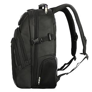 Correas acolchadas, ergonómicas y ajustables para mejor movilidad y confort mientras viaja.