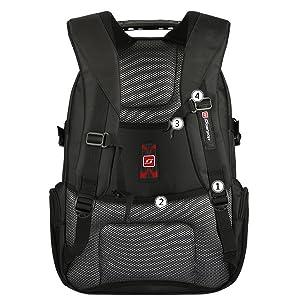 Una correa acolchada permite mochila adjunta a la manija del equipaje para facilitar el transporte.