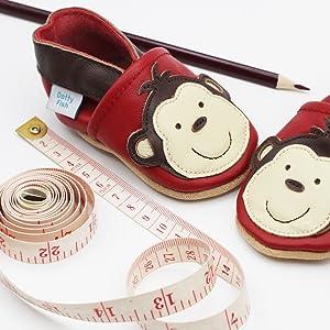Dotty Fish - Zapatos de Cuero Suave para bebés - Sandalias