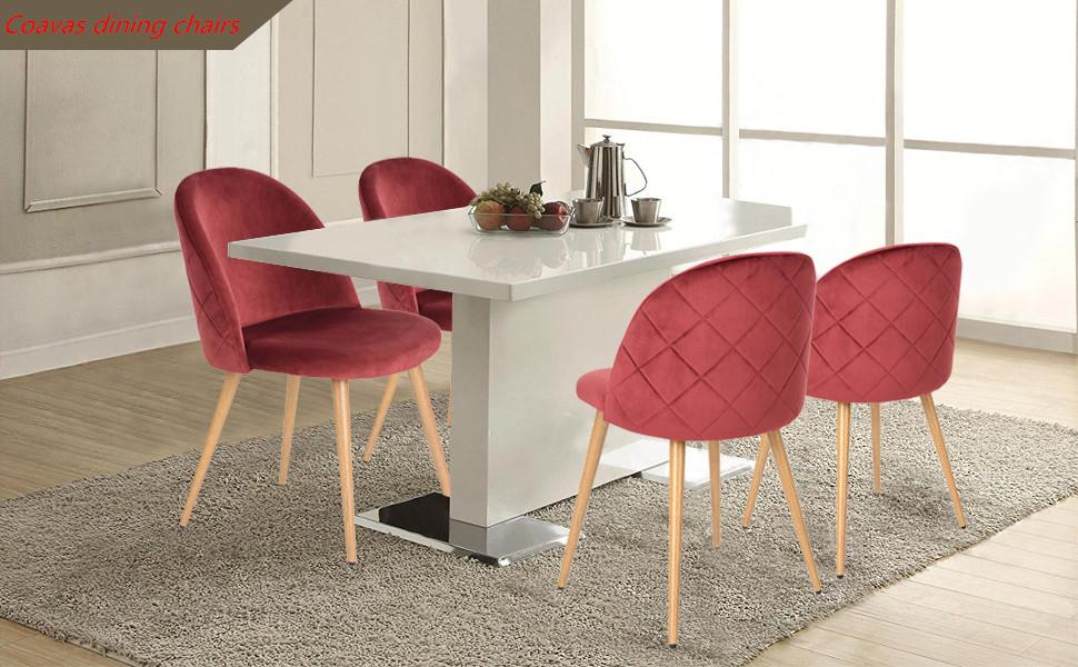 Las sillas de comedor modernas de Coavas son aptas para el comedor de la cocina, la sala de café, la sala de descanso, los centros de entretenimiento, ...