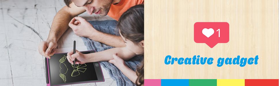 NEWYES Tableta de Escritura LCD 8.5 Pulgadas, Pizarra Digital, Tablet para Niños (8.5