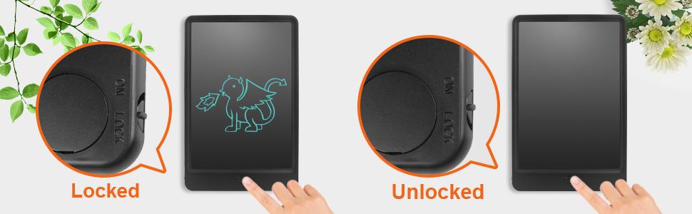 NEWYES 10 Pulgadas Tableta de Escritura LCD Almohadilla con Llave de Bloqueo Tablero de Dibujo para Niños Gráfico Electrónico para la Oficina de la ...