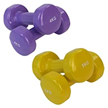 BB Sport 2 x Pesas de Vinilo 0,5-5 kg Mancuernas Set en Colores ...