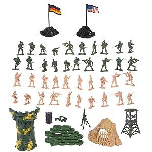 deAO Soldados en Battalla Fuerzas Armadas Unidad de Defensa Militar Figuras de Acción Coleccionable Set Más de 100 Piezas en Total: Amazon.es: Juguetes y juegos