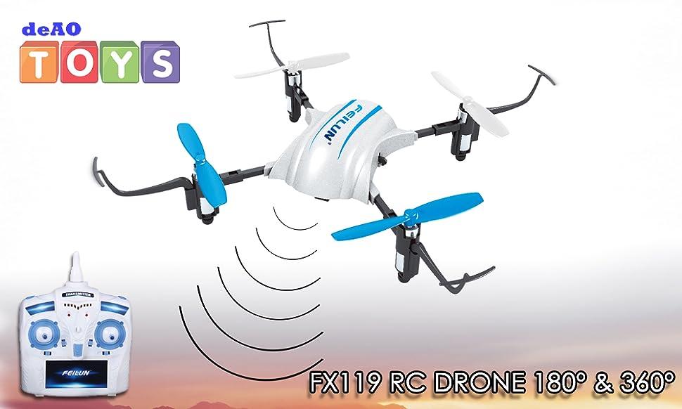 deAO RC Drone FX119 Cuadricoptero 6-Axis Gyro 180° Vuelo Invertido ...
