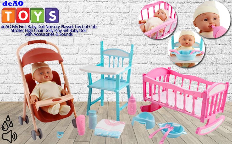 Amazon.es: deAO Mi Primera Muñeca Bebé Conjunto Set, Muñeca ...