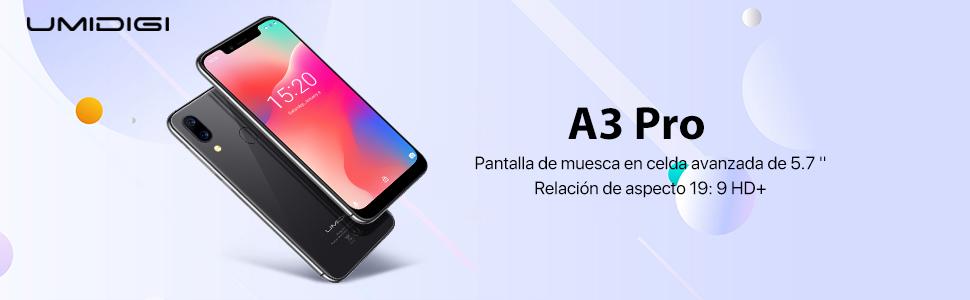 UMIDIGI A3 Pro Smartphone Libres Android 9 Pie Pantalla 18:9/5.5