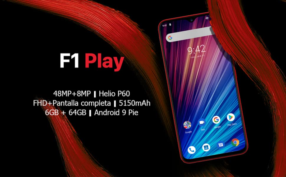 UMIDIGI F1 Play Smartphone Libres Android 9 Pie Teléfono ...