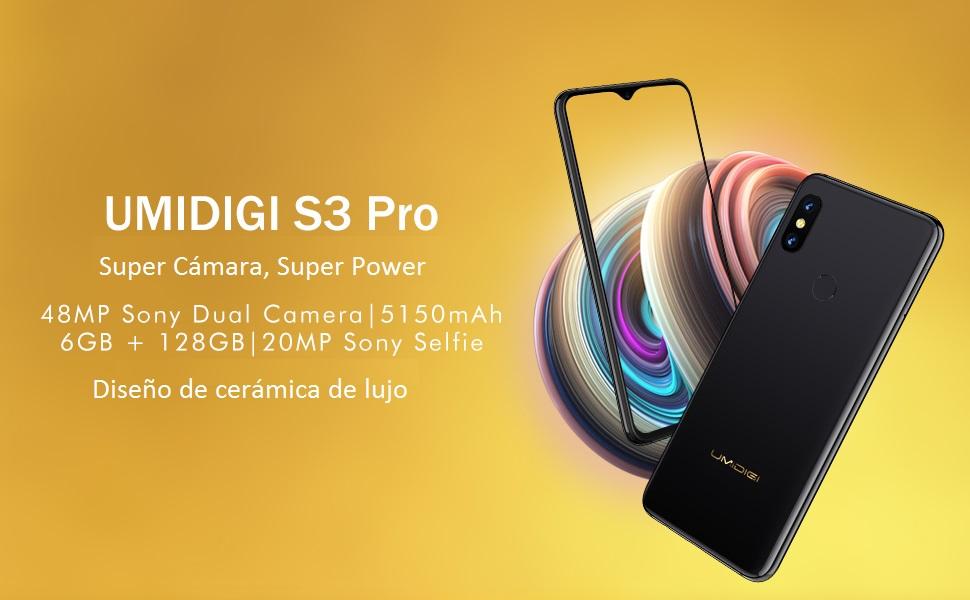 UMIDIGI S3 Pro Smartphone Libre Android 9 Pie Teléfono móvil 48MP+ ...