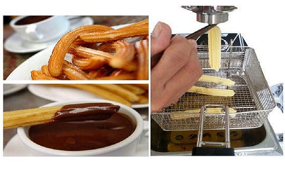 Materias primas para hacer churros