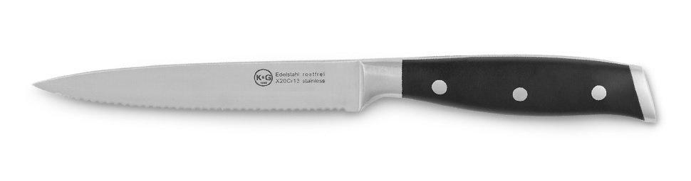 Set de Cuchillos para Carne de 13 cm, incluye Caja para Regalo, 4 piezas, hoja dentada en diseño de 3 remaches