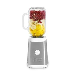 En solo un momento mezclará su smoothie favorito directamente en el vaso Mason Jar o la botella de tritán.