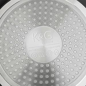 Set de 3 sartenes de aluminio sartenes de aluminio forjado con recubrimiento Quantum2, antiadherente