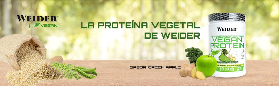 Weider WJW.200122 Victory Vegan Protein Green Apple 750 Gram