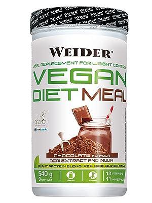 Weider Vegan Diet Meal Choco 540 Gr. Sutituto de comida 100% vegano.Sin gluten. Ideal para dieta: Amazon.es: Salud y cuidado personal