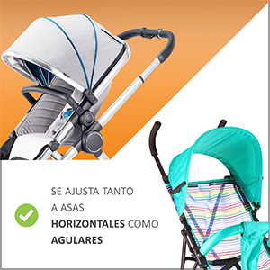 Ganchos Carrito Bebé, Baby Uma - Engancha tus bolsas de la compra, bolso o cambiador en el manillar de la Sillita, Cochecito o Silla de Ruedas. Pack ...