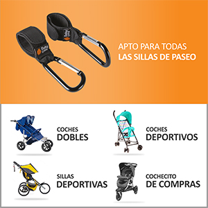 Bebé primeros universal cochecito Ganchos 3x Pack Buggy Cochecito Compras Bolso Momia Clips