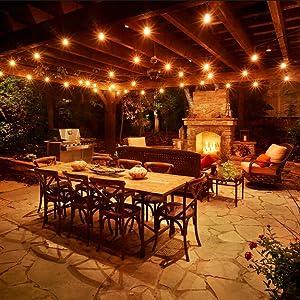 Luces de Cuerda al Aire Libre, iEGrow LED Luces de Cadena Conectables a Prueba de época Perfecto para Interiores, al Aire Libre, Jardín, Fiesta, Festival, Decoración de Boda etc [48 Pies 15