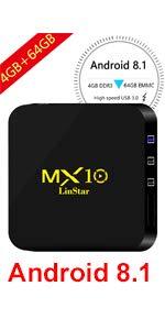 MX10 4G 64G TVBOX ...