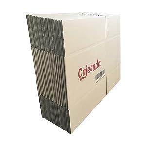 Cajeando | Pack de 20 Cajas de Cartón | Tamaño 43 x 30 x 25 cm ...