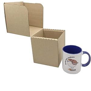 Caja de Cartón para Tazas 12,3 x 12,3 x 13,5 cm (Paquete de 10 ...