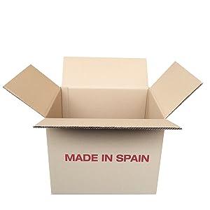 Cajeando | Pack de 10 Cajas de Cartón de Canal Doble | Tamaño 39,5 x 31,5 x 32 cm | Color Marrón | Mudanzas | Cajas Grandes de Almacenaje | Fabricadas en España: Amazon.es: Oficina y papelería
