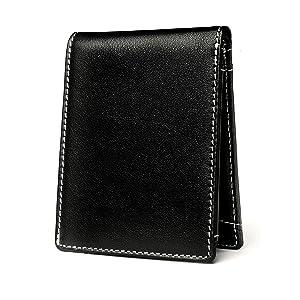 Negro Carteras de Hombre con Protección RFID y Caja de Regalo Billeteras Cuero Billetero Billeteros Portamonedas Negros Monedero Monederos Estuche ...