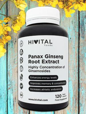 Panax Ginseng 2500 mg Extracto con 50 mg de principio activo Ginsenósidos | 120 cápsulas vegetales | Aumenta los niveles de energía, y mejora la ...