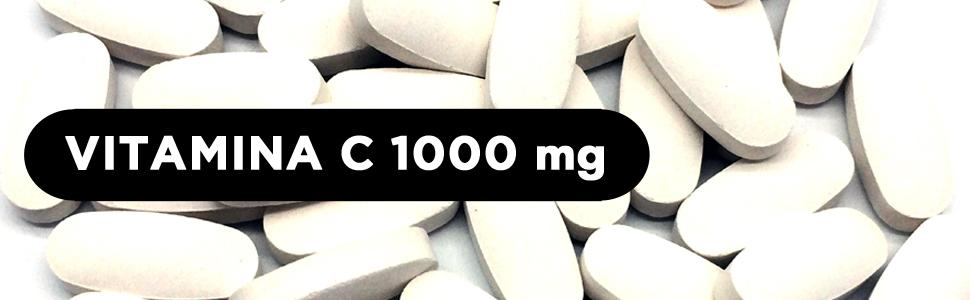 Vitamina C 1000 mg | 240 comprimidos (Suministro para 8 meses) | Reduce el cansancio y la fatiga, protege las células del estrés oxidativo, y mejora ...