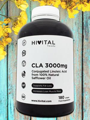 CLA 3000 mg Ácido Linoleico Conjugado Aceite Vegetal de Cártamo Hivital foods