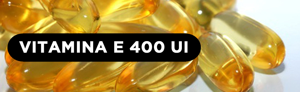 Vitamina E Natural 400 UI IU 400 mg Hivital foods