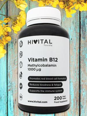 Vitamina B12 Metilcobalamina 1000 mcg | 200 comprimidos (Más de 6 meses de suministro) | Contribuye a la formación de glóbulos rojos, reduce el ...
