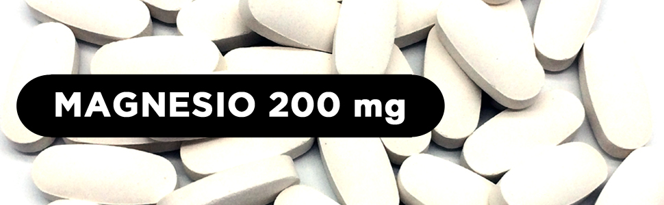 Magnesio puro 200 mg procedente de Citrato de Magnesio | 240 comprimidos (Suministro para 8 meses) | Mejora los sistemas muscular y nervioso, reduce ...