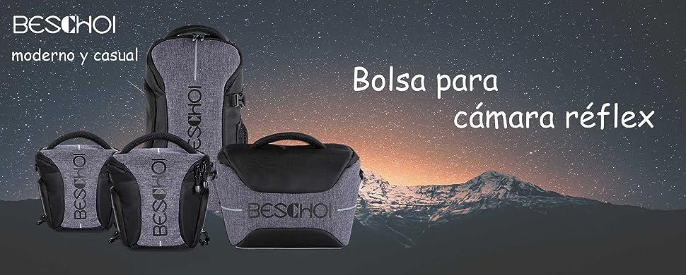 Beschoi Funda Cámara Réflex, Bolsa Bandolera para Cámara Canon ...