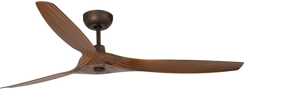 FARO BARCELONA 33511 - Morea Ventilador de Techo marrón con Motor ...