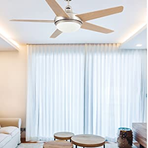 Faro Barcelona 33137 - OVNI Ventilador de techo con luz 5 Palas diametro 132 cm con Mando a distancia