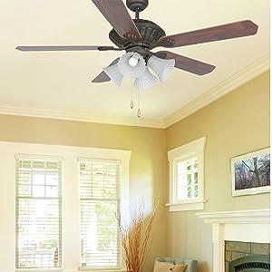 Ventilador de techo con luz CORSO. FARO BARCELONA. Comprar
