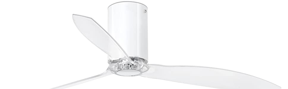Faro Barcelona 32038 - MINI TUBE FAN Ventilador de techo blanco, transparente con motor DC: Amazon.es: Bricolaje y ...