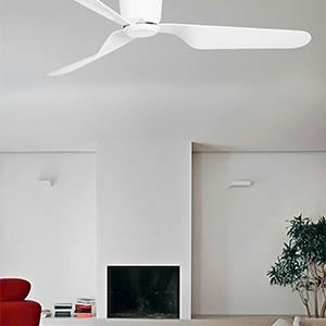 Faro Barcelona 33471 - PEMBA Ventilador sin luz, acero y palas acrilicas, color blanco.: Amazon.es: Iluminación