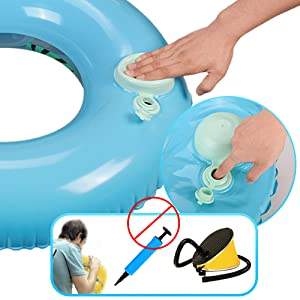 Olycism Flotador Inflable de la Piscina del sandía para el Anillo de la natación del Aire de la Estera del Sunbathe (C-Azul Sandía)