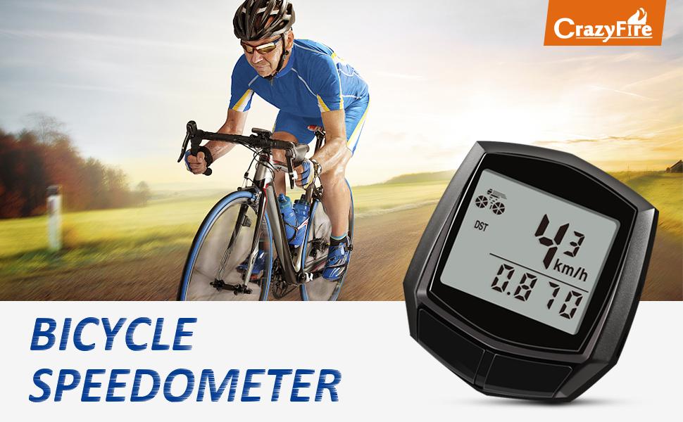 Cuentakilómetros para Bicicleta CrazyFire Velocimetro Impermeable ...