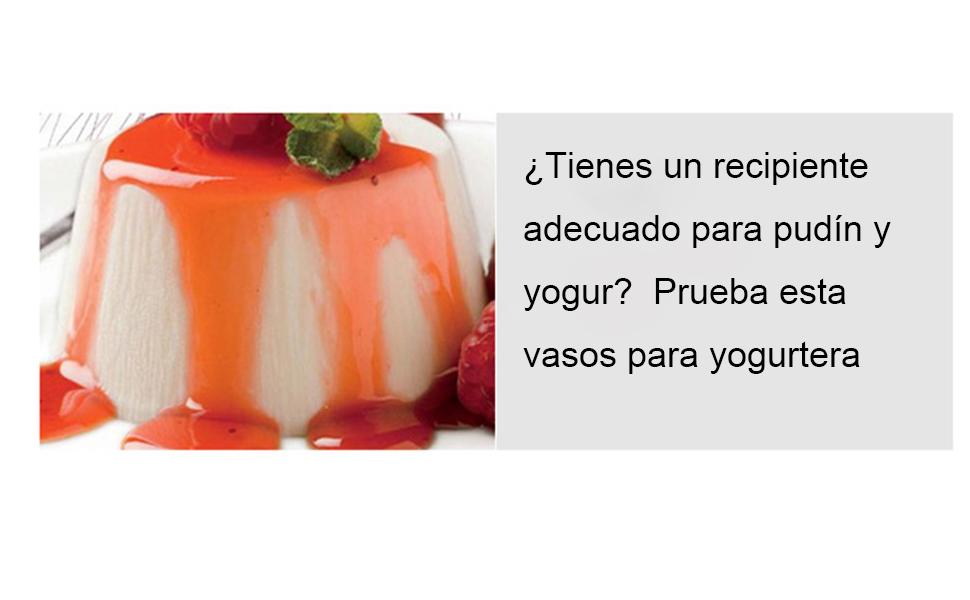 Yangbaga Vasos para Yogurtera, 9 Vasos de Repuesto Tarros Cristal ...
