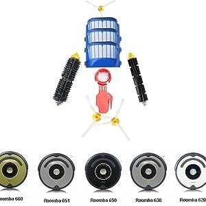 Nuevo kit de accesorios de repuesto para Roomba irobot 600 series