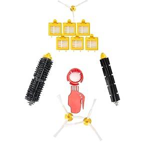 Batería de repuesto Ni-MH Super Capacidad 3800mAh para iRobot Roomba + Kit de cepillo para iRobot Roomba 700 720 750 760 770 772e 776 776p 780 782e 786 786p 790Series: Amazon.es: Hogar