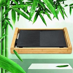 El marco está hecho de material de bambú.