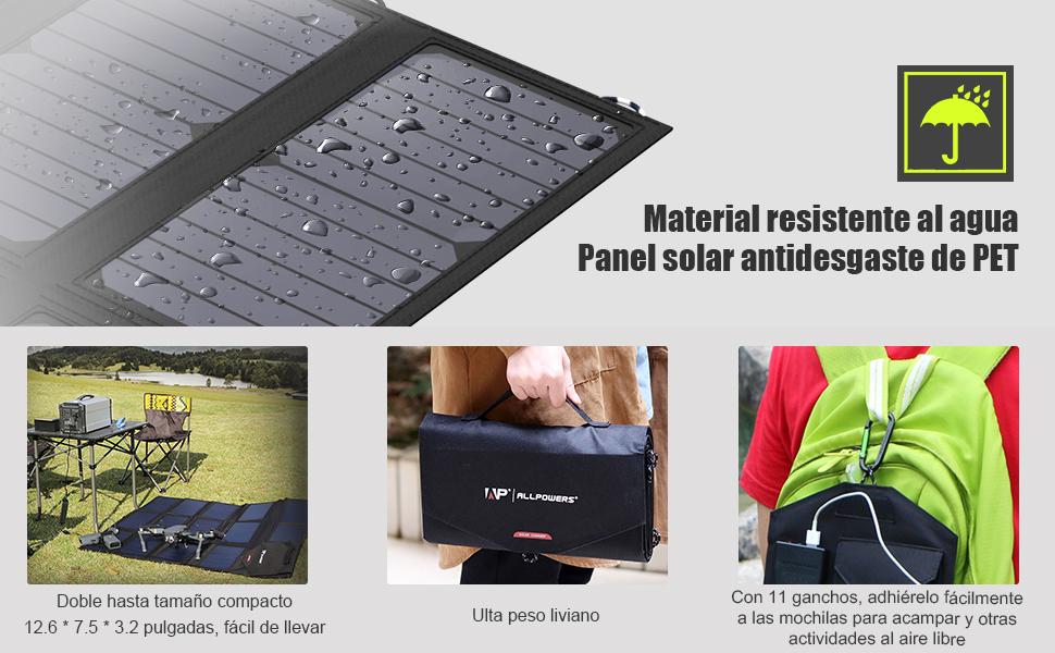 ALLPOWERS: la primera marca de cargador de paneles solares de Amazon * Carga más rápida y segura con nuestras tecnologías avanzadas