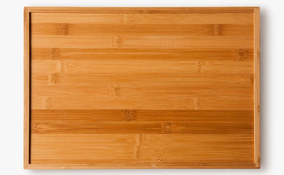 Vassoio da portata in bambù grave , 40 cm x 28 cm x 4.5 cm,